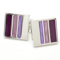 美しい紫グラデーション・紫陽花みたいに優雅なカフス(カフリンクス/カフスボタン)