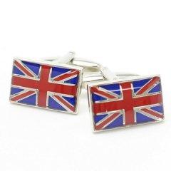 イギリス国旗・UKユニオンジャックのカフス(カフリンクス/カフスボタン)