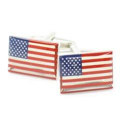 アメリカ国旗・USA星条旗のカフス(カフリンクス/カフスボタン)