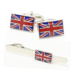 イギリス国旗・ユニオンジャックのカフス・タイピンセット