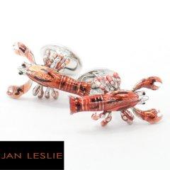 【JanLeslie】手足が動くレッド・ロブスターのカフス(カフリンクス/カフスボタン)