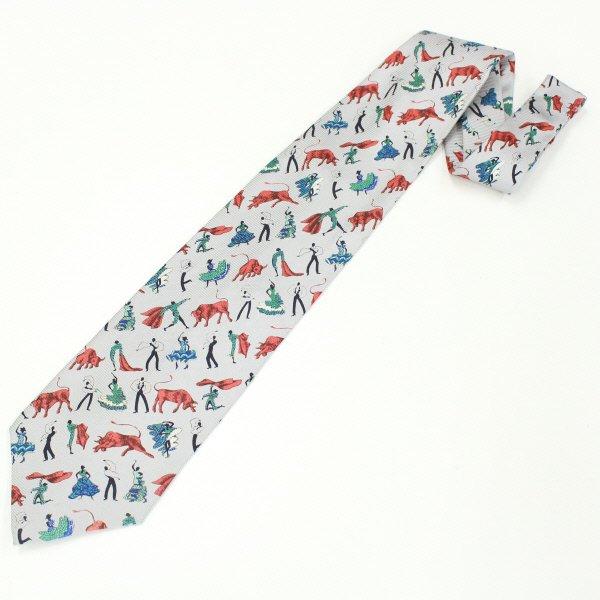 面白ネクタイ・闘牛士とフラメンコのイラストネクタイ