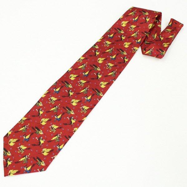 面白ネクタイ・ほうきに乗った魔法使いのネクタイ