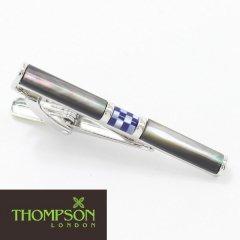 【Thompson London】モザイク柄・ラピスラズリとパールのタイピン(ネクタイピン)