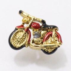 ラペルピン・レトロな雰囲気のバイクのブローチ(タイタック)