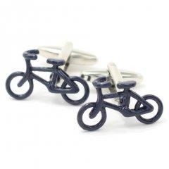 気持ち良い風に吹かれてネイビーの自転車カフス(カフリンクス/カフスボタン)