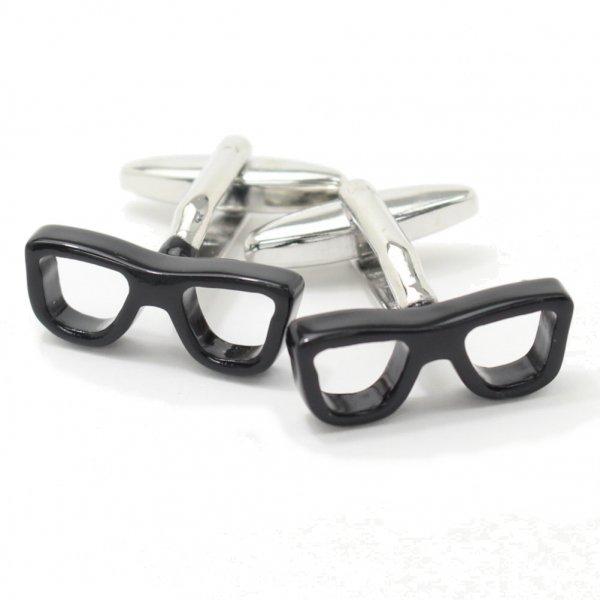 めがね男子必見!黒縁眼鏡・サングラスのカフス(カフリンクス/カフスボタン)