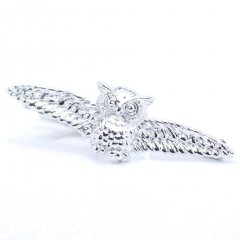 シルバー・翼を広げたフクロウのタイピン(ネクタイピン)