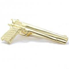 ハートを狙い撃ちピストル銃のタイピン(ネクタイピン)