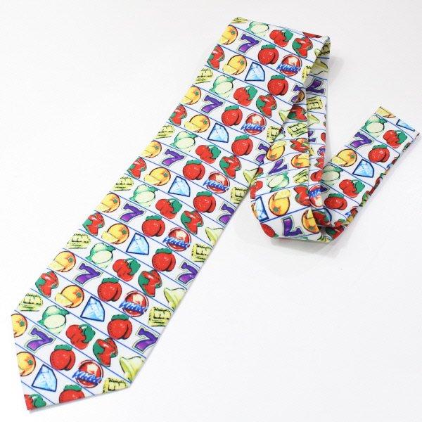 面白ネクタイ・スロットのユニークネクタイ