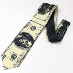面白ネクタイ・100ドル紙幣のユニークネクタイ