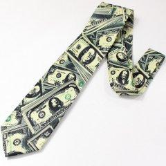 面白ネクタイ・ドル紙幣のユニークネクタイ