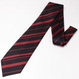 全3色・ブラック×レッド・レジメンタルストライプの西陣織ネクタイ
