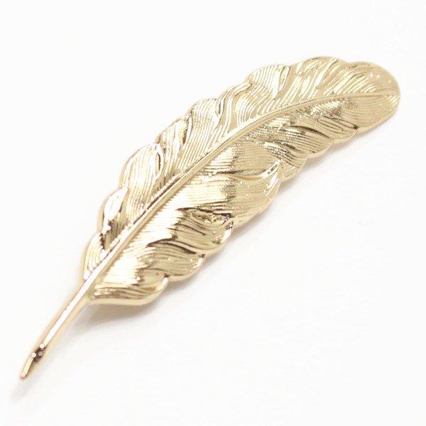 羽根モチーフ・ゴールドのラペルピン(ピンブローチ)