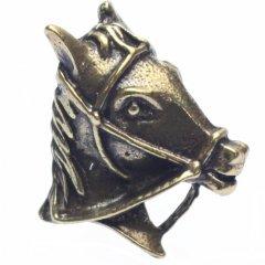 馬の横顔・ゴールドのラペルピン・ブローチ(タイタック)