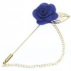 華やかな薔薇・ブルーのラペルピン(ピンブローチ)
