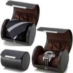携帯用・旅行や出張のお供にネクタイケース&ウォッチ腕時計ケース