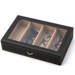 眼鏡ボックス・Stackable・ホコリ汚れを防いでお洒落にすっきりコレクション・収納できる男のメガネ・サングラスケース