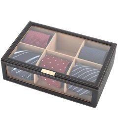 ネクタイボックス・大事なコレクションをお洒落にすっきり積み重ねて収納できる男のネクタイケース