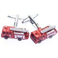 これであなたも消防士!消防車のカフス(カフリンクス/カフスボタン)