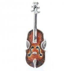 【SATURNO・サツルノ】バイオリンのタイタック(ピンブローチ)