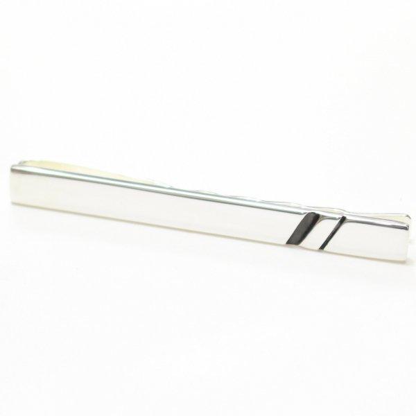 silver925ブラックラインのネクタイピン