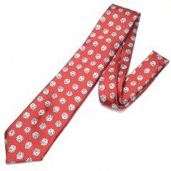 赤・ダイスだらけでパラダイス!!ころころサイコロの刺繍柄面白ネクタイ