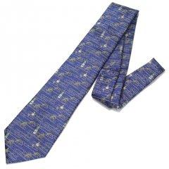 【富士桜工房】紺・日本酒・日本製シルクジャカードの和風ネクタイ