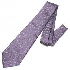 【富士桜工房】桔梗鼠・蜻蛉とんぼ・日本製シルクジャカードの和風ネクタイ