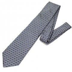 【富士桜工房】亀甲紋・伝統紋柄・日本製シルクジャカードの和風ネクタイ