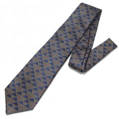 【富士桜工房】鱗紋・伝統紋柄・日本製シルクジャカードの和風ネクタイ