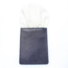 カードケース付きで型崩れしない・ホワイト・ペイズリー柄・ポケットチーフ・ポケットスクウェア