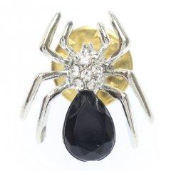 ブラックストーン・蜘蛛スパイダーのラペルピン・ブローチ