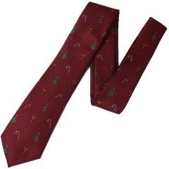 ワクワクが止まらないクリスマスのジャガード織りネクタイ