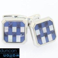 【Duncan Walton Luxury】CHADWICK・ソーダライトのブロックカフス(カフリンクス/カフスボタン)
