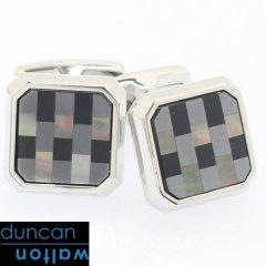 【Duncan Walton Luxury】CHADWICK・グレーシェルのブロックカフス(カフリンクス/カフスボタン)