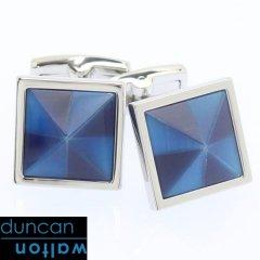 【Duncan Walton Luxury】MASSON・キャッツアイ・ブルーのカフス(カフリンクス/カフスボタン)