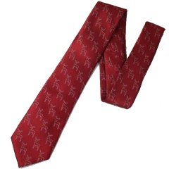 ベルを着けたトナカイのクリスマスネクタイ