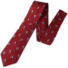 転ばないように気を付けて・玉乗りサンタの クリスマスネクタイ