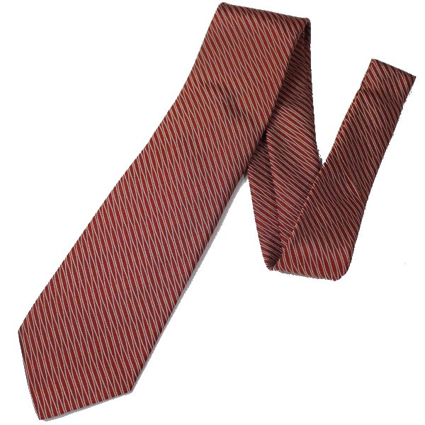 【富士桜工房】赤・立涌・日本製シルクジャカードの和風ネクタイ