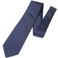 【富士桜工房】青・立涌・日本製シルクジャカードの和風ネクタイ