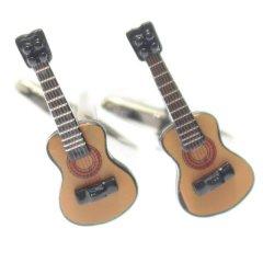 音楽好きさんに・リアルなギターのカフス(カフリンクス/カフスボタン)