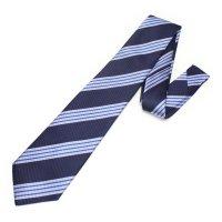 全3色・レジメンタルストライプ・ネイビー×ブルーの西陣織ネクタイ