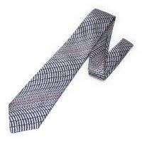 全3色・三丁紋柄・ホワイトの西陣織ネクタイ