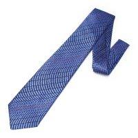 全3色・三丁紋柄・ブルーの西陣織ネクタイ