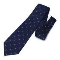 全3色・小紋柄・グリーンの西陣織ネクタイ