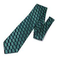 全3色・チェーン柄・グリーンの西陣織ネクタイ