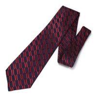 全3色・チェーン柄・レッドの西陣織ネクタイ