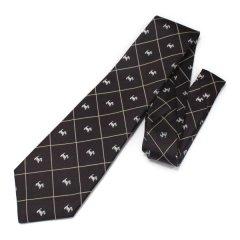 全3色・ミニチュアシュナウザー・テリア・犬・ブラウンの西陣織ネクタイ