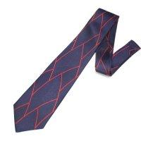 全2色・ネイビー×レッド・フラワーデザインの西陣織ネクタイ